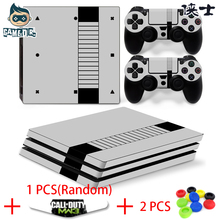 [ PS4 Pro Sticker ] Nes Game Player Designer Vinyl Decal Skin Sticker for Play Station 4 PS4 Pro Console + 2 Controller Skin(China)