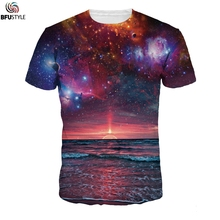 Space Galaxy T-shirt Men/Women Harajuku Hip Hop Brand Tops Tees 2017 Summer Man Clothing 3D Print T Shirts Tie Dye Tshirt