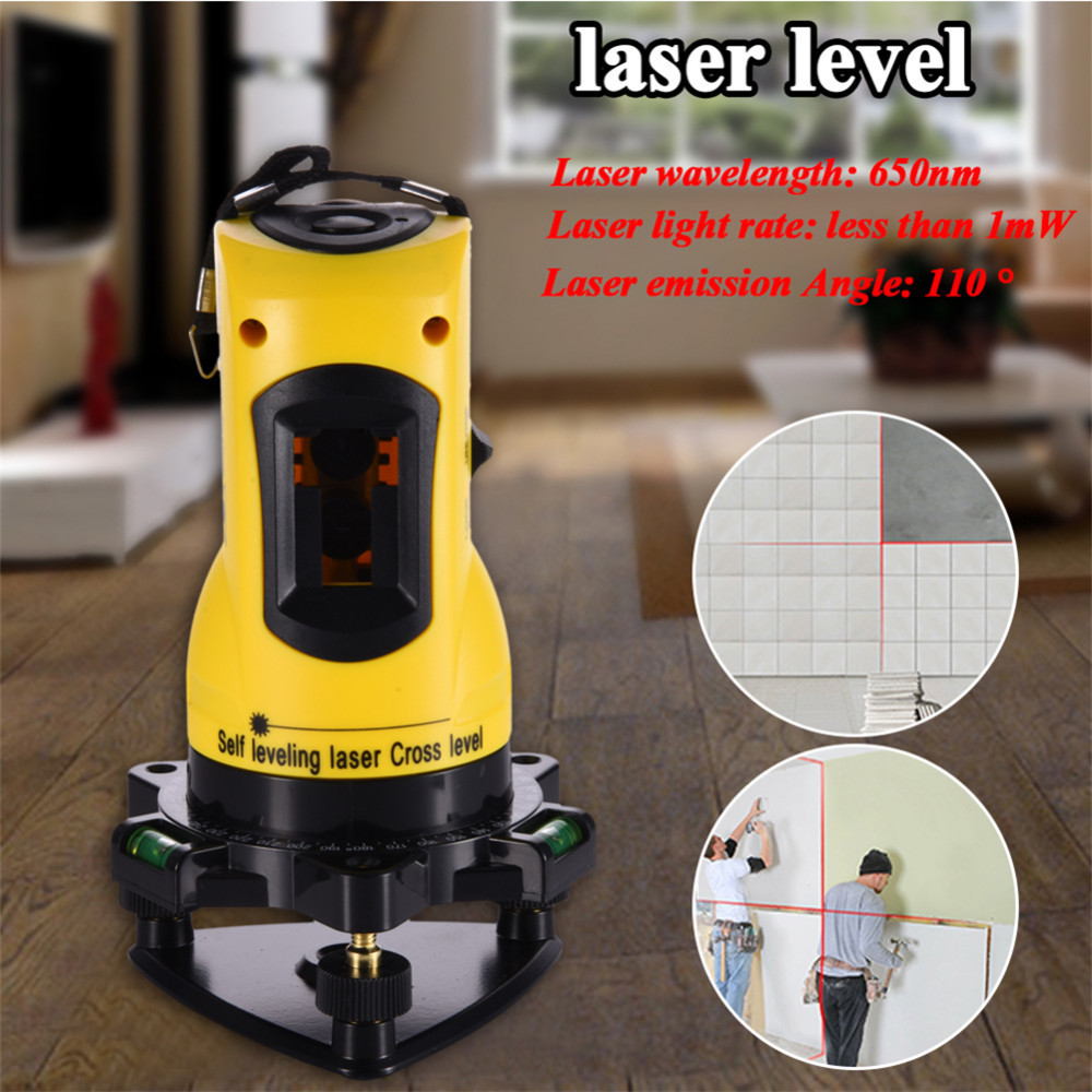 ZH-SL203 Laser Level 650nm 2 Red Cross Lines  360 Rotary Degree Self- Leveling Nivel Laser Diagnostic-tools Yellow<br>
