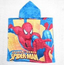 Children Spiderman Robes Boys Cartoon Bathrobes kids Spider-Man Swimming Cloak bath towel Baby Beach wear