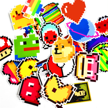 25Pcs animals lover Stickers Mixed Funny Cartoon Mosaic Pixels Decals Luggage Laptop Car Styling Skateboad DIY Sticker(China)
