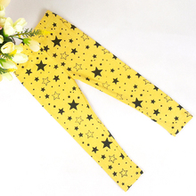 Trendy Kid Girls Stretchy Skinny Leggings Trousers Star Printed Warm Pants Hot Selling(China)