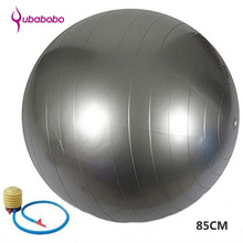 85CM PVC Unisex Yoga Balls for Fitness with 4 color female Pilates Balls gymnastic Balls High quality Balance Ball+Free Pump Air(China)