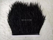 5yards/lots 8-10cm Black colors  Ostrich Feather Plumes Fringe trim Feather Boa Stripe for Party Clothing Accessories Craft