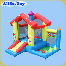 Inflatable Baby Jumping Castle for Family Use,Bounce House with Ball Pool,Bouncy Castle with Air Blower(China)