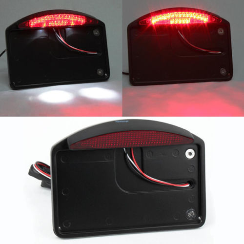 Motorcycle Fender Eliminator License Plate Bracket With LED Taillight Accessory For Harley Touring Sportster 1 inch back axle<br>