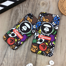 Fashion Latest supreme bape Case For iphone 6 case Aape man Luminous phone cover For iPhone 7 6 6S Plus 7Plus Matte Cover Fundas