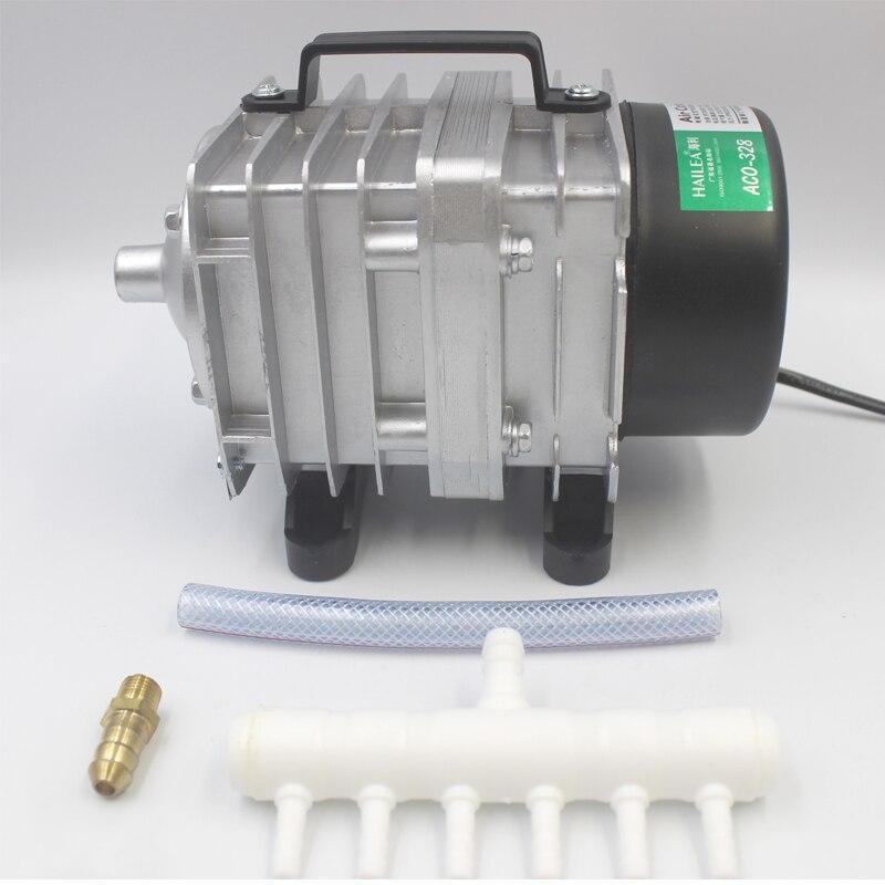 Hailea AC Compressore Aria Pompa a stantuffo Pond idroponica ACO318 60 L//min