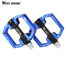 WEST BIKING Pedals Bicicleta MTB Bicycle Bike Pedal Axle Common Interfac MTB Hollow Cycling Bearing Aluminum Alloy Bike Pedals