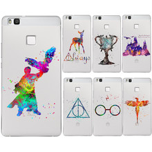 Watercolor Art Harry Potter Magic Birds Deer Soft Clear TPU Phone Cover For Huawei  P8 lite 2017 P9 lite P10 Cases Fundas Coque