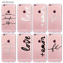 Unique For iPhone 7 6 6S 5 5S SE 7Plus 6Plus 6sPlus  Phone Case Portuguese Words Love Amor Design Soft Silicon Coque Capa Para