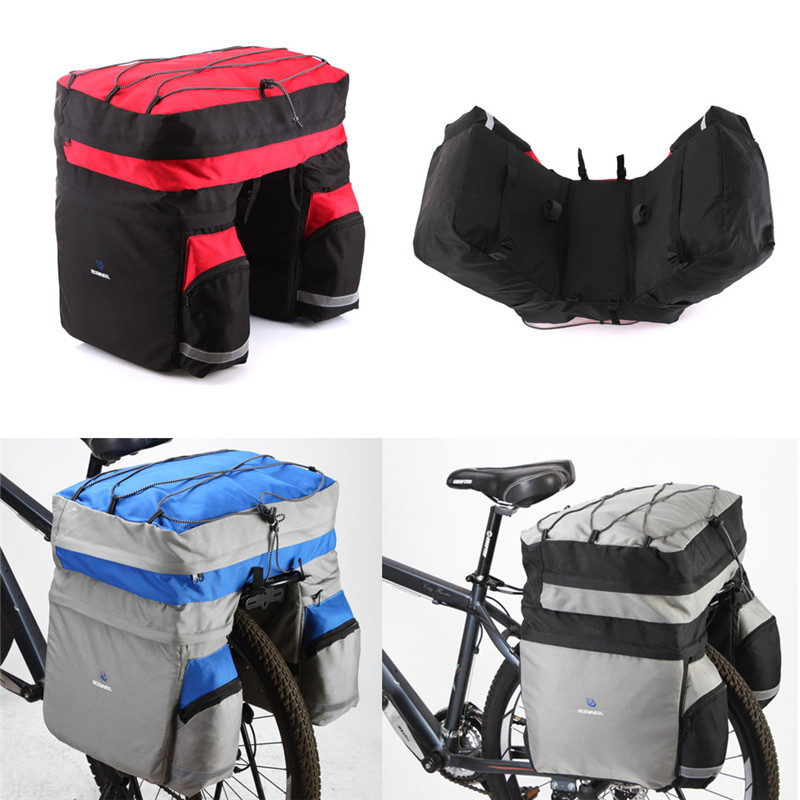 ROSWHEEL 60L Waterproof Polyester Mountain Road Bicycle Bike Bags Cycling Double Side Rear Rack Tail Seat Trunk Bag Pannier New<br><br>Aliexpress
