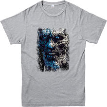 Game Of Thrones T-Shirt, Whitewalkers Face Norte Parede Design Inspirado T-Shirt