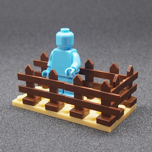 MOC City Mini Figures Building Blocks Pasture fence DIY Blocks Baseplate Small Bricks Base Compatible lepines toys for children