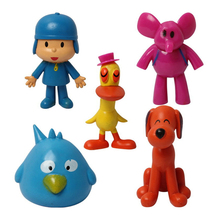 5pcs/set Cartoon Pocoyo Elly Loula Pato Sleepy Bird PVC Action Figures Toys Dolls JL085 Child Gifts Christmas Gift Brinquedos(China)