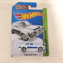 2015 hot wheels 1:64 white 70 ford escort rs1600 Metal Diecast Cars Models Collection Kids Toys Vehicle For Childre(China)