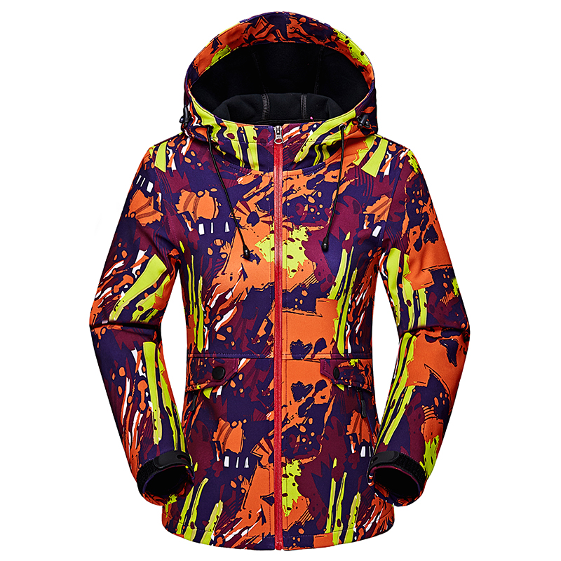 Befusy Outdoor Spring Autumn Climbing Camping Hiking Softshell Jackets Waterproof Windproof Thermal Windbreaker Women Fall Coat