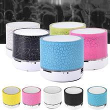 6Color DC5V Mini Wireless Portable Speakers LED Luminous Bluetooth Crack Speaker Subwoofer HandsFree MIC Support TF  6*5*5cm