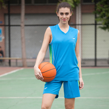 Sports women basketball jersey girls college team basketball jersey quick dry number pocket  basketball jersey suits uniforms XL