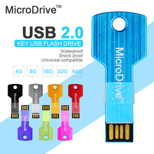 Metal key shape usb 2.0 usb flash drive 16gb 32gb pen drive 4gb 8gb usb flash 64gb memory stick usb stick pendrive