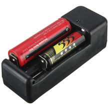 Universal EU Plug 18650 Dual Battery Charger Ajustable Charging For 3.7V 18650 16340 14500 AA/AAA Li-ion Rechargeable Battery(China)