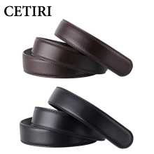 No Buckle 3.5cm Wide Real Genuine Leather Belt Without Automatic Buckle Strap Designer Belts Men High Quality cinturon hombre(China)