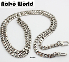 High Grade 120cm 130cm 9mm Width DIY bag strap chain purse handle purse metal strap chain strap replaced handbag strap bag parts