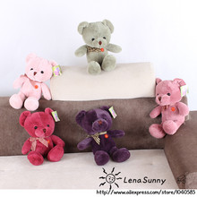 25CM Muti Color Teddy Bear Plush Toy ,Kids Teddy Bear Christmas Toys,Bear Gift Toys 5pcs/lot