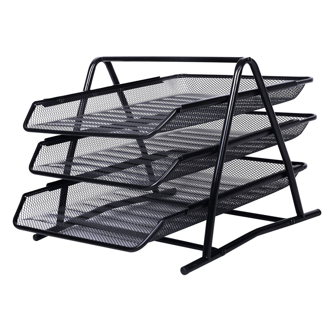 SOSW-Office Filing Trays Holder A4 Document Letter Paper Wire Mesh Storage Organiser<br><br>Aliexpress