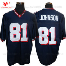 Cheap Shirt for Mens American Football Jerseys Calvin Johnson 81 Sandy Creek High School Throwback Jerseys Retro Black Stitched(China)