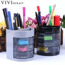 Vividcraft Creative Desk Accessories Pencil Holder Colorful Multi-function Pen Stand for Office Supplies Desk Organizer Caneta(China)