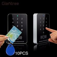 Giantree Rfid Door Access Control System RFID Card Password Access Controller Keypad Machine Controller Keypad +10 Key Fobs(China)