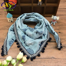 1PC 2017 Autumn Winter Children's Cotton Triangle Scarf Boys and Girls Cute Small Scarves Child Baby Kids Soft Viscose Scarf