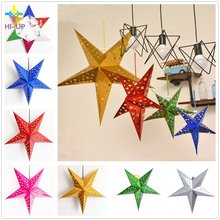Buy 60cm Folded Pentagram Paper Star Lantern 3D Hanging Paper Star Wedding Birthday Home Evening Party Christmas Tree Decoration for $3.00 in AliExpress store