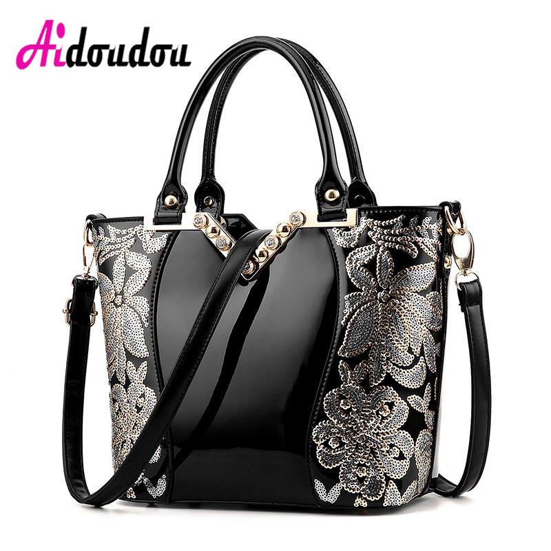 New Europe Embroidery Luxury Handbags Women bags Designer Brands Tote Ladies Leather Shoulder Bags Female Crossbody Bags<br>