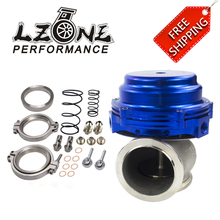 LZONE - FREE SHIP Water cooler 44mm TL Wastegate external turbo red/blue/black With Flange/Hardware MV-R Water-cooled w/ logo(China)