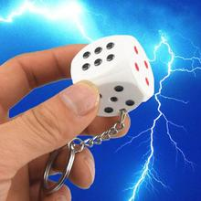 Electric Shock Toy Novelty Items keychain Prank Toy Dice Joke Gift Trick Goods April Fools' Day Gifts Shock your friend(China)