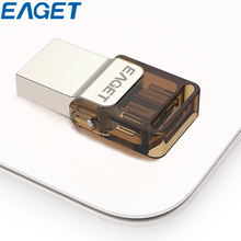Hot Selling EAGET V9 USB2.0 8gb Pendrive Ultra Thin Rotation Cap Metal Flash Drive Portable 8GB OTG USB Memory Stick For Android
