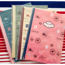 1pcs/lot 318*240mm Novelty Vintage Eiffel tower PVC designer file folder presentation folders kawaii stationery