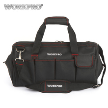 "WORKPRO 18"" Waterproof Travel Bags Men Crossbody Bag Tool Bags Large Capacity Free Shipping(China)"