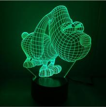 Creative LED 3D Lamp Big Eye Dog 3D LED 7 color changing visual illusion night light bedroom nightlight Dropshipping