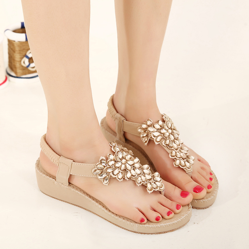 Summer new women fashion sandals, sweet students sandals casual comfortable womens sandals soft-end large-size women shoes39 40<br><br>Aliexpress