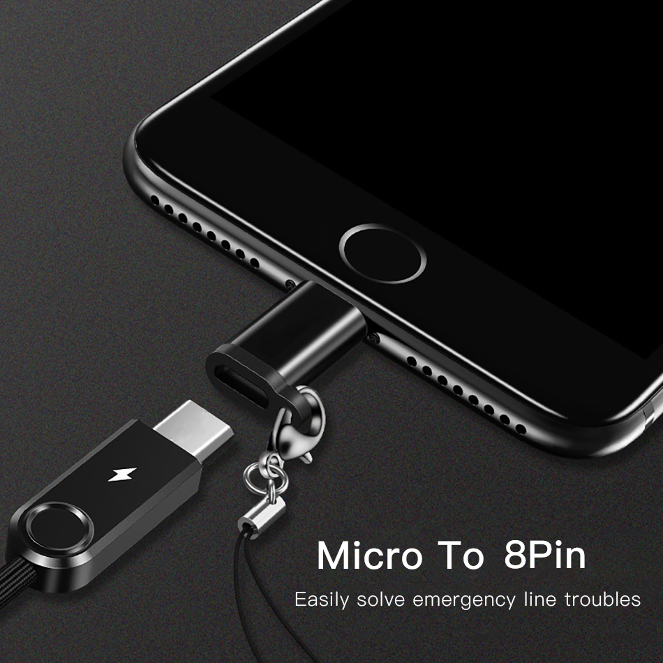 !ACCEZZ 4PC OTG Adapter Micro USB Female To Lighting 8 Pin For iphone X XS MAX XR 7 8 6S Plus Phone Data Sync Charger Converter (3)