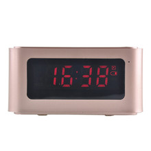 Wireless Bluetooth Speaker portable multifunctional Music Sound Box with Alarm Clock LCD Screen Desktop Support Hands-free Call