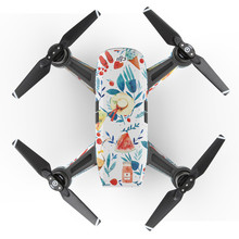 Helicopter drone with camera in RC Helicopters Waterproof Decal Skins Wrap Sticker Body Protector free shipping 17Nov24(China)