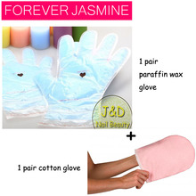 FOREVERJASMINE 1Pair Blueberry Paraffin Wax Therapy Hand Treatment Moisturizing Gloves Resuable Whitening Manicure Hand Mask