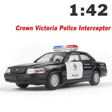 Top Quality 1:42 Victoria Police Car Diecast Alloy Model Car Pull Back Toy Vichle As Gift For Boy Childs