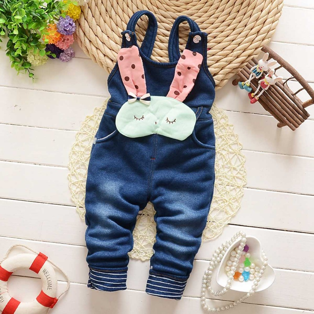 Autumn Kids Baby Infants Girls Denim Jeans Pants Cowboy Trousers Overalls Jumpsuits Bodysuits MT372<br><br>Aliexpress