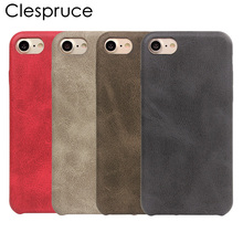 Clespruce Luxury Retro PU leather Case For iphone X 8 8plus 7 6 6s Plus Soft Rubber Cover Phone Bag Back Cover Capa Fundas Coque(China)