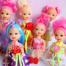 10 Items Kelly and Friends Family Doll Pretty Gown Cloth Dress Shoes Free Shipping